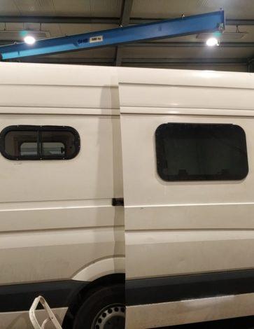 Fenstereinbau Campervan links