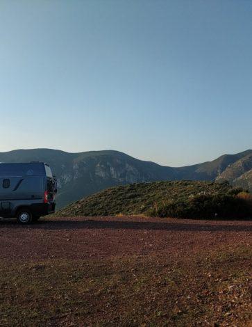 Stellplatz in der Naehe von Nebida Sardinien