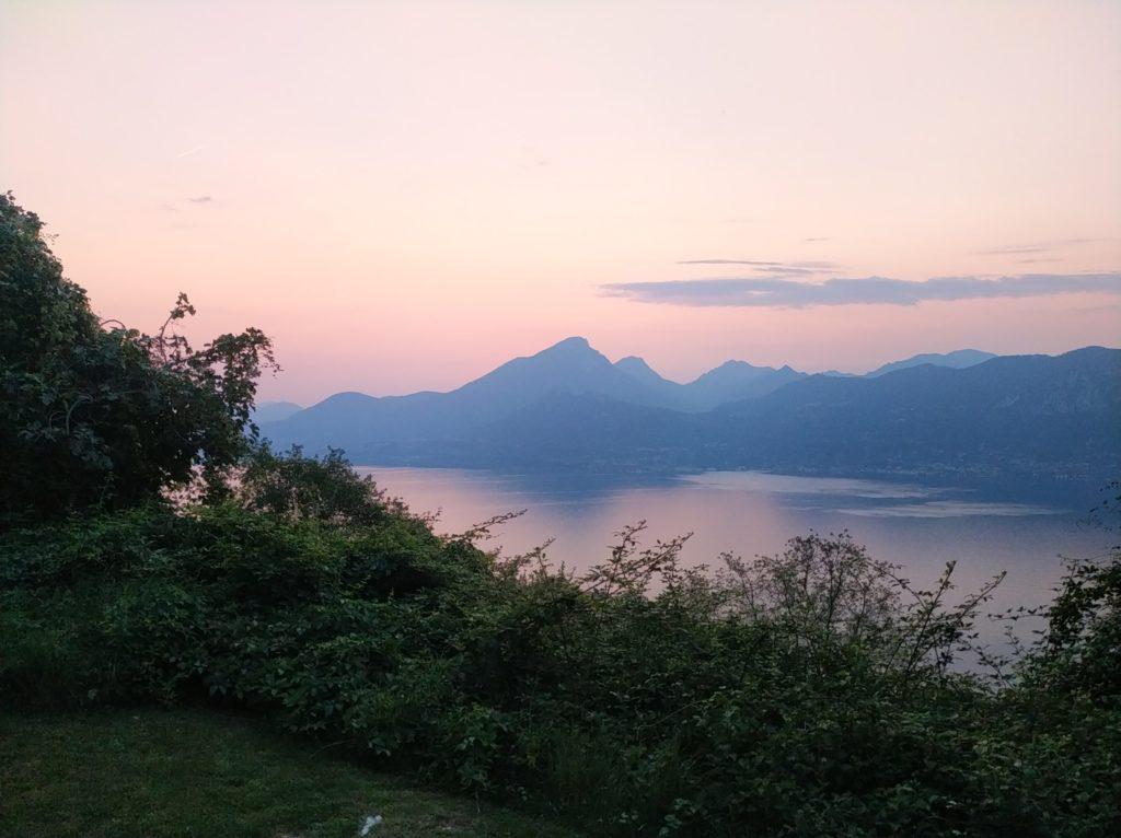 Gardasee Stellplatz Camper Sonnenuntergang