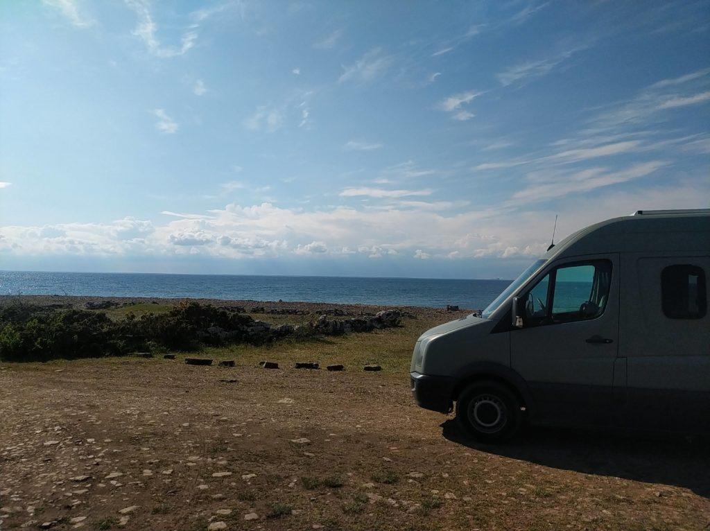 erster Urlaub im Van in Südschweden